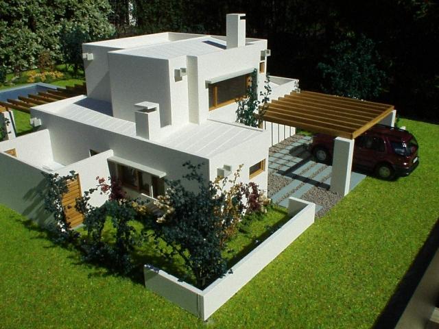 Pin maquetas de casas en miniatura iglesias castillos on for Casa minimalista maqueta